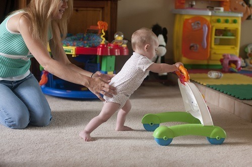 Baby Playing With Walker