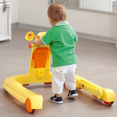 Baby Walking With Baby Walker